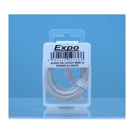 image: 18 Strand/ 0.1mm Wire - White - 10 Meters