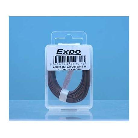image: 18 Strand/ 0.1mm Wire - Brown - 10 Meters