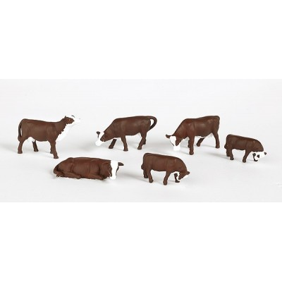 image: Scenescapes(TM) - Cows - Brown/White - pkg (6)