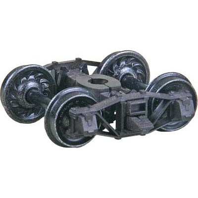 """image: Self-Centering Barber - Bettendorf Roller Bearing Arch Bar Caboose Truck with 33"""" ribbed back wheels"""