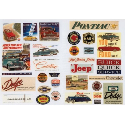 image: 1940s-1950s Vintage Auto Posters/Signs
