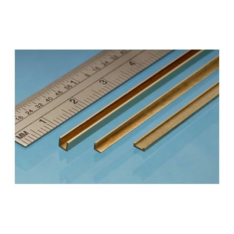 image: 2mm x 2mm x 305mm Brass Angle - 1 Piece