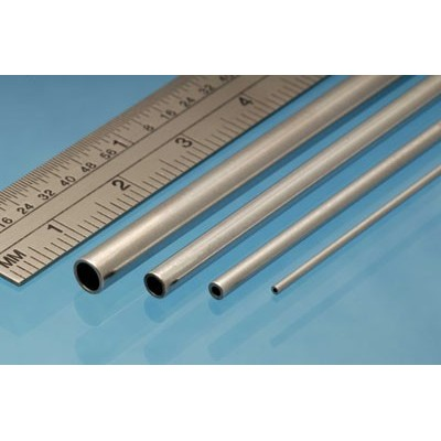 image: 5.0mm x 0.45mm x 305mm Aluminium Tube - 2 Pieces