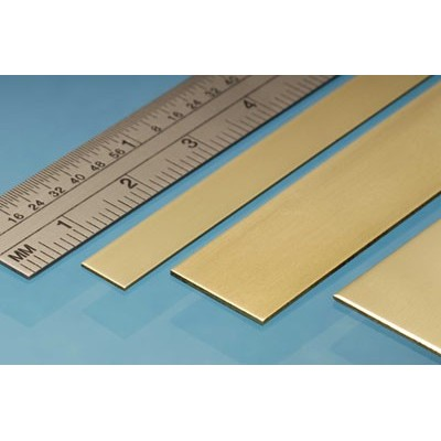 image: 6mm x 0.6mm x 305mm Brass Strip - 4 Pieces