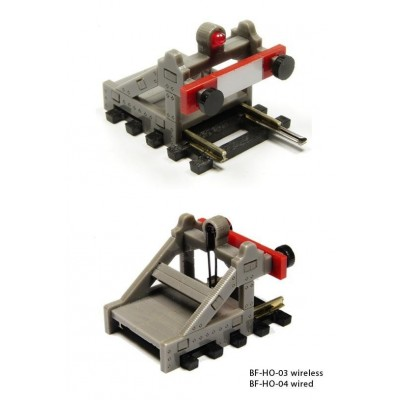 image: HO/OO Buffer Stop wired with Light for DC/DCC - Grey