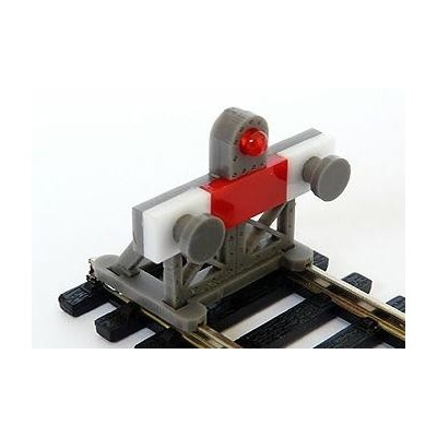 image: OO Laser Cut Buffer Stop Kit with Light - Pack 2