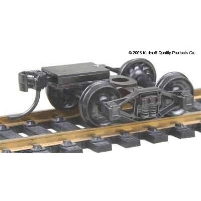 "image: Bettendorf T-Section (Talgo) Trucks with 33"" Ribbed Back Wheels - 1pr"