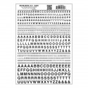 Dry Transfer Alphabet - Railroad Gothic - Black