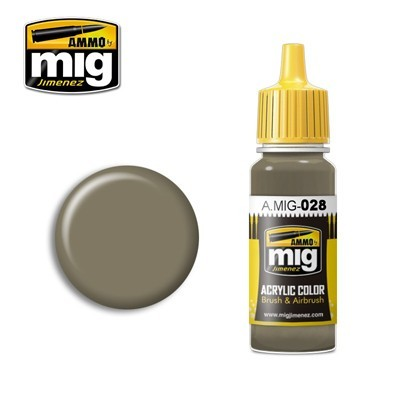 Grey Beige Acrylic Paint - RAL 7050 - 17ml
