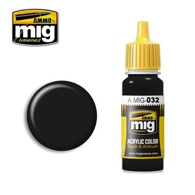 image: Satin Black Acrylic Paint - 17ml