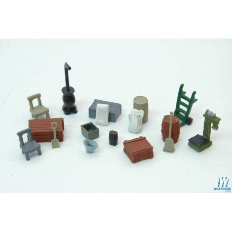 image: Country Store Detail Set - Unpainted Metal Castings