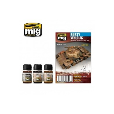 image: Rusty Vehicles Enamel Weathering Set - 3 x 35ml Jars