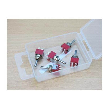 DPDT Sub Miniature Switch - 2 Positions - On/On - 5pcs