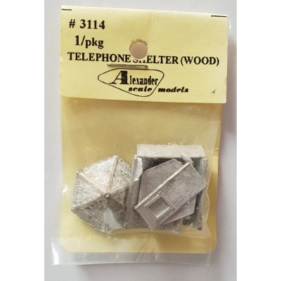 Wood Telephone Shelter - Pkg 1