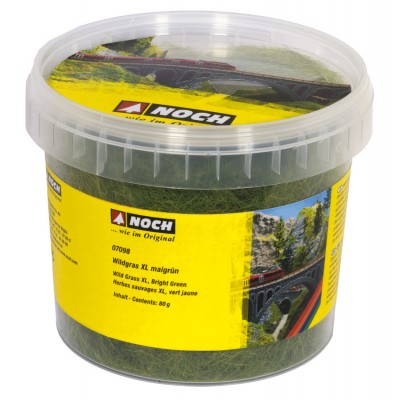 Static Grass - Wild Grass XL - Bright Green - 12mm - 80g