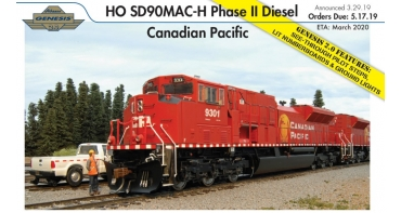 New from Athearn Genesis 2.0 - EMD SD90MAC-H Phase II Locomotives