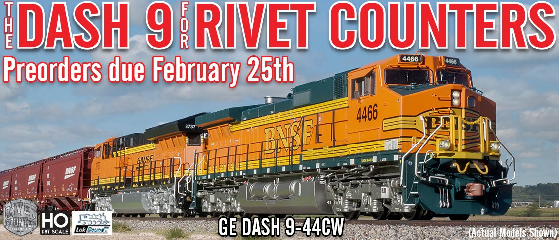New from Scaletrains HO Rivet Counter Dash 9 Locomotives