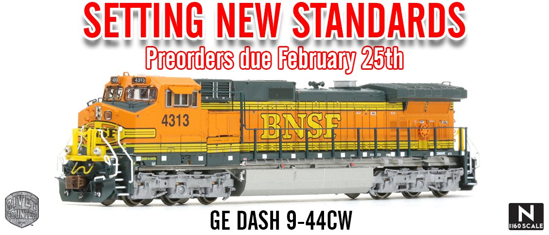 New from Scaletrains N Rivet Counter Dash 9 Locomotives