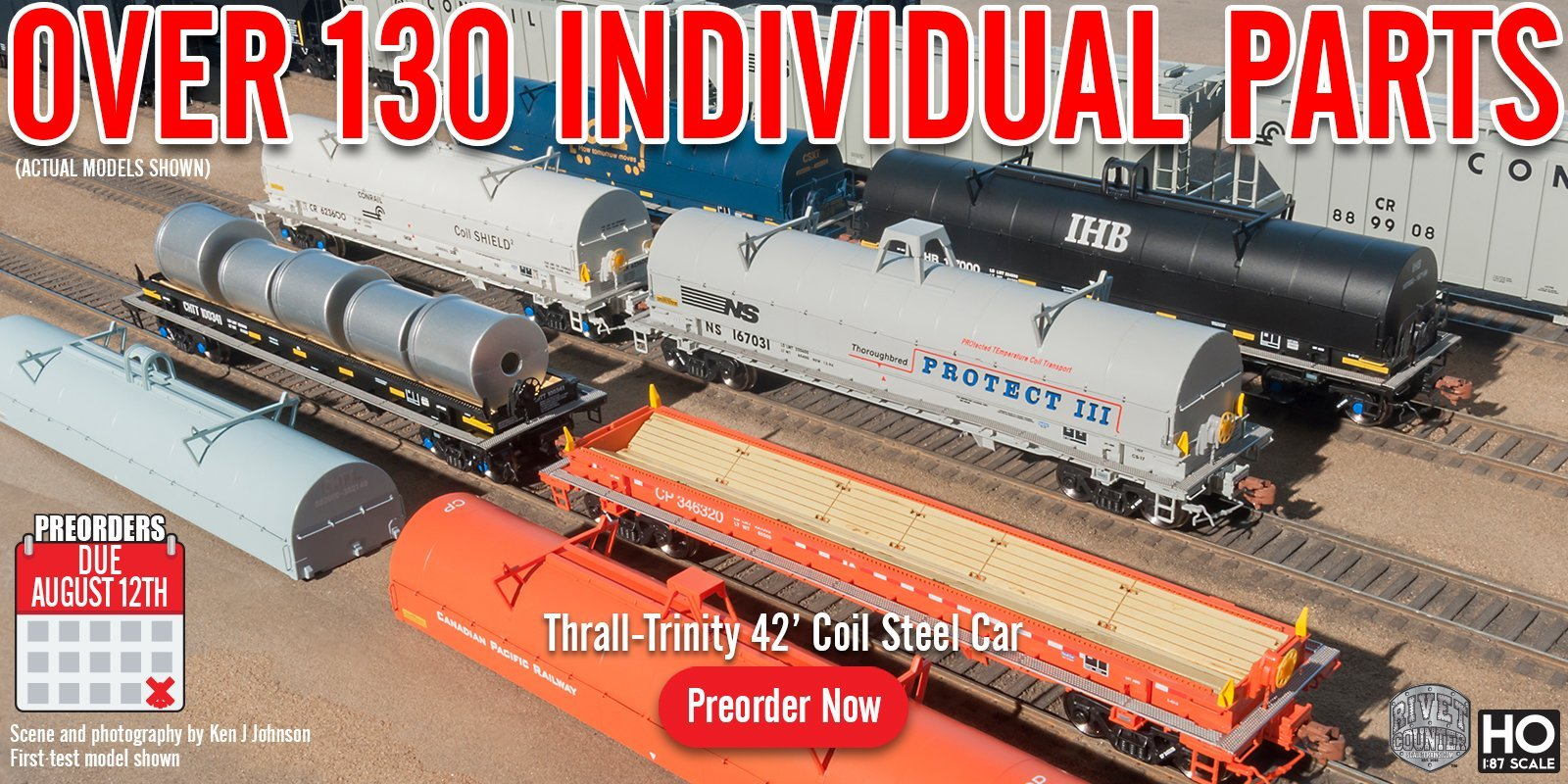 Scaletrains 1st Run HO Scale Thrall-Trinity 42ft Coil Steel Cars